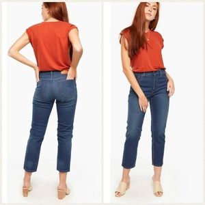 NEW Able Nelida High Rise Straight Ankle Jeans 25